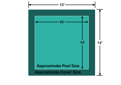 10' x 10' Square Loop-Loc II Super Dense Mesh In-Ground Pool Safety Cover