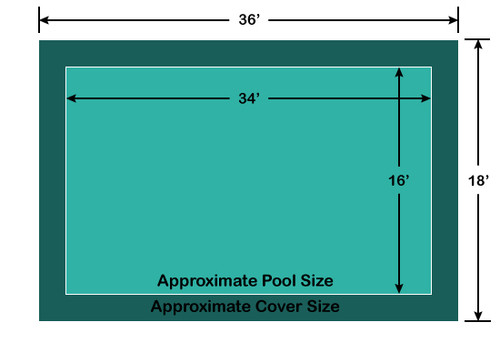 16' x 34' Rectangle Loop-Loc II Super Dense Mesh In-Ground Pool Safety Cover