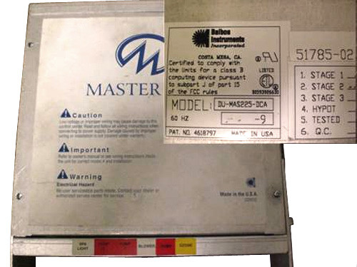 Master Spa - X300650 - Balboa Equipment MAS225 System Control Pack w/ Heater