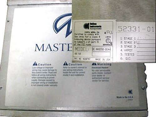 Master Spa - X300730 - Balboa Equipment MAS550 System Control Pack  for STS Models