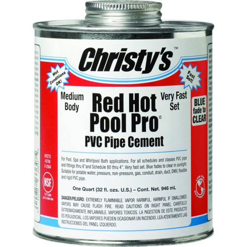 Master Spa - CH33648 - Christy's Red Hot Pool Pro PVC Pipe Cement - Front View