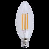 LED 4 Watt Filament Candelabra (40W eqv) Dimmable