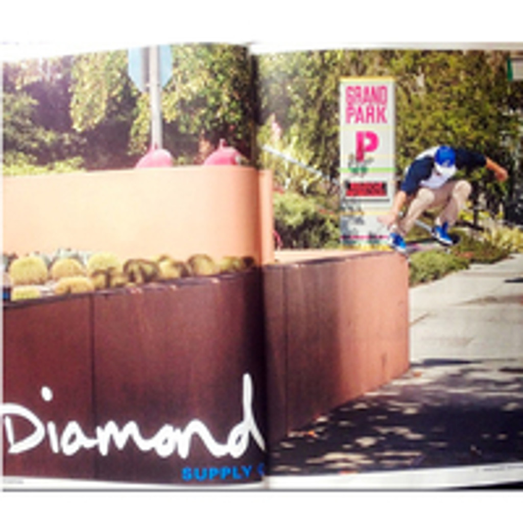 Nick Dompierre Diamond Supply Ad in Thrasher Magazine