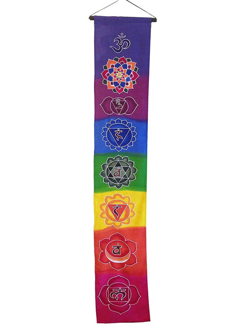 Inspirational Wall Hanging Scroll Chakra - Handmade in Indonesia - Wisdom Arts