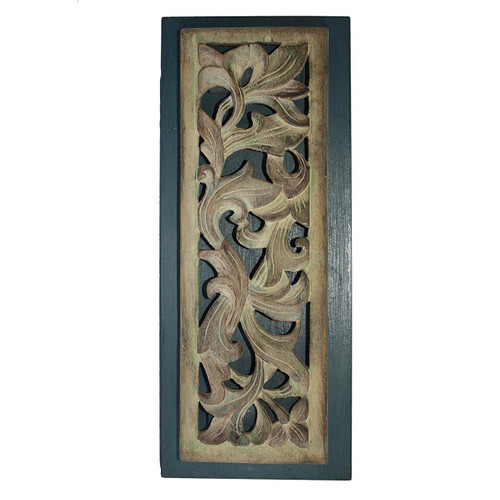 Hand Carved Wooden Panel Antique Style  - Wisdom Arts