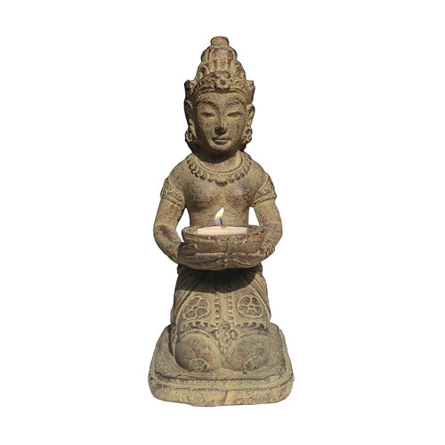 Balinese Hindu Dewi Sri Goddess (Shridevi) Figurine 8 inches - Made in Indonesia - Wisdom Arts
