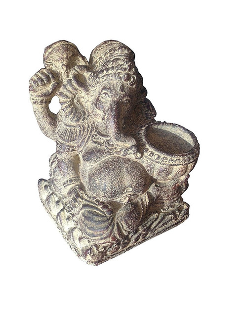 Ganesh Figurine with Tea-light Candle Holder - Wisdom Arts