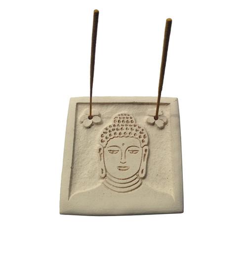Handmade Buddha Face Relief Incense Stick Holder - Wisdom Arts
