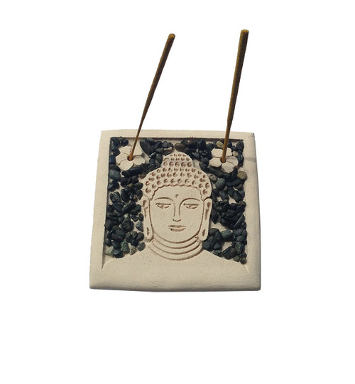 Handmade Buddha Face Relief Incense Stick Holder - Wisdom Arts