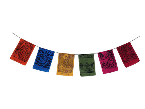 "Goddesses inspirational hanging banner ""Tibetan prayer flag style"" - Wisdom Arts"