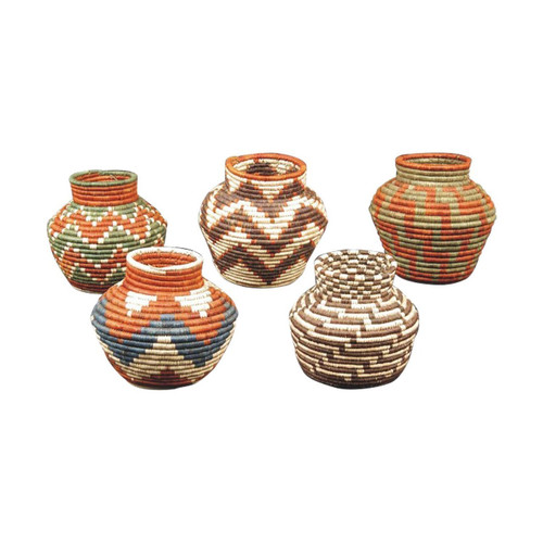 Handwoven Decorative Basket (1 pc) - Wisdom Arts