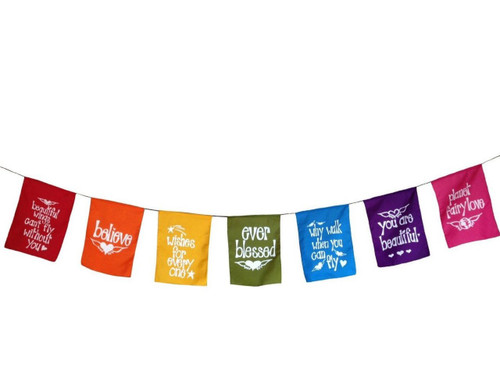 Angels' Wings Inspirational Prayer Flag Style Banner