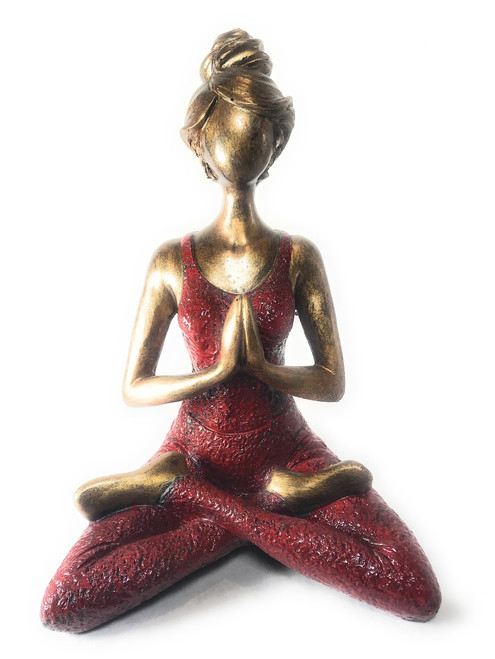 Yogi lady figurine - red