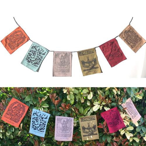 Goddesses - inspirational prayers flags - soft pastel color