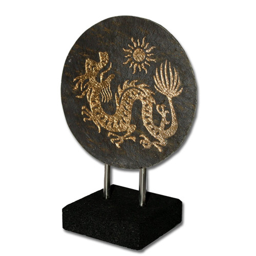 Natural Slate Stone Dragon - Handmade in Indonesia - Wisdom Arts