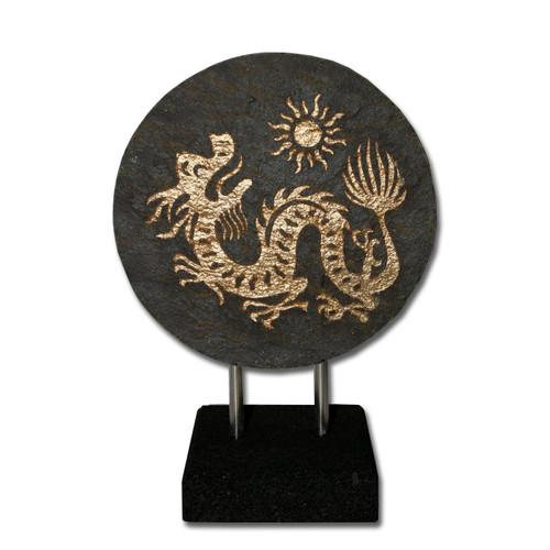 Natural Slate Stone Dragon - Handmade in Indonesia - Wisdom Arts