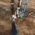Turquoise, Rudraksha, Tigers Eye 108 Mala - Tassel Medium Grey