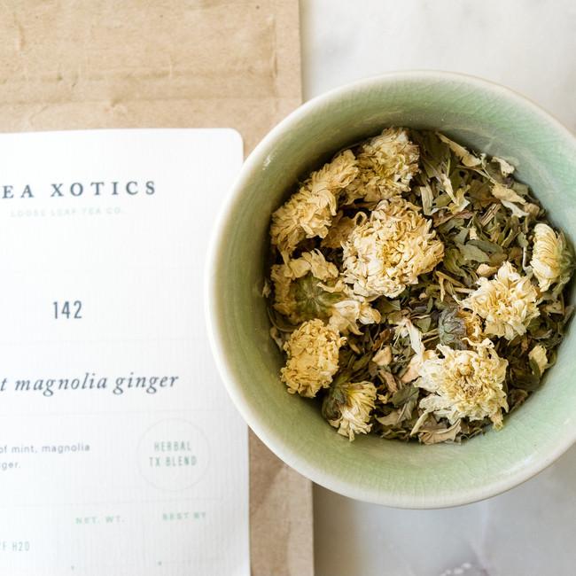 142 Mint + Magnolia Flower + Ginger Herbal Tea