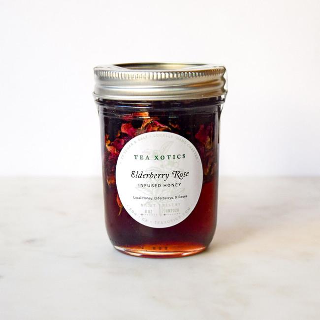 Elderberry Rose Infused Honey