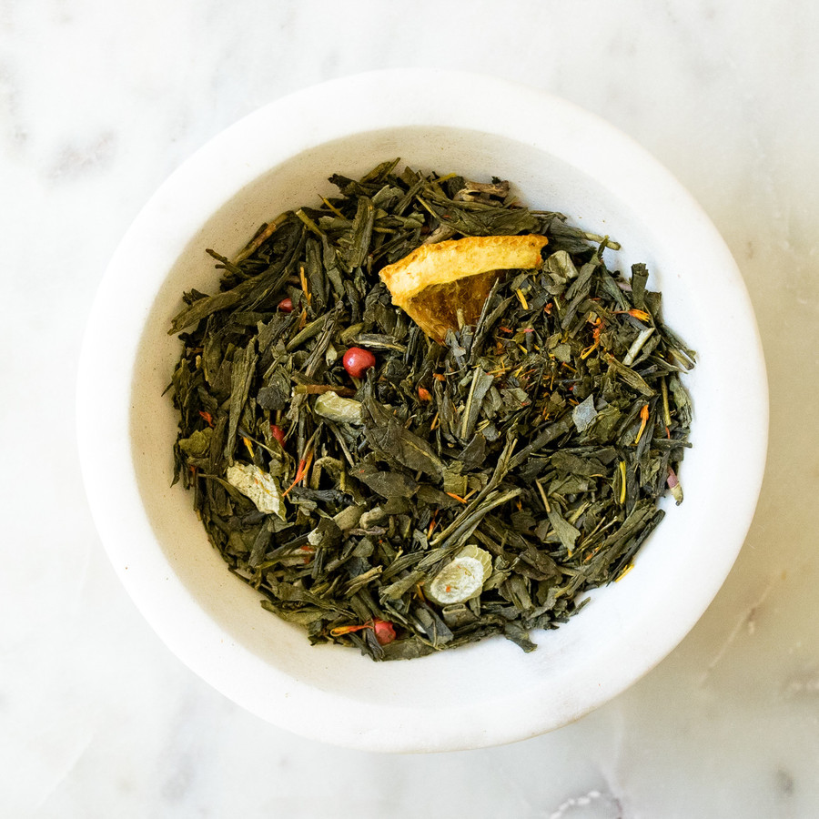 068 Sencha Almond Orange Green Tea