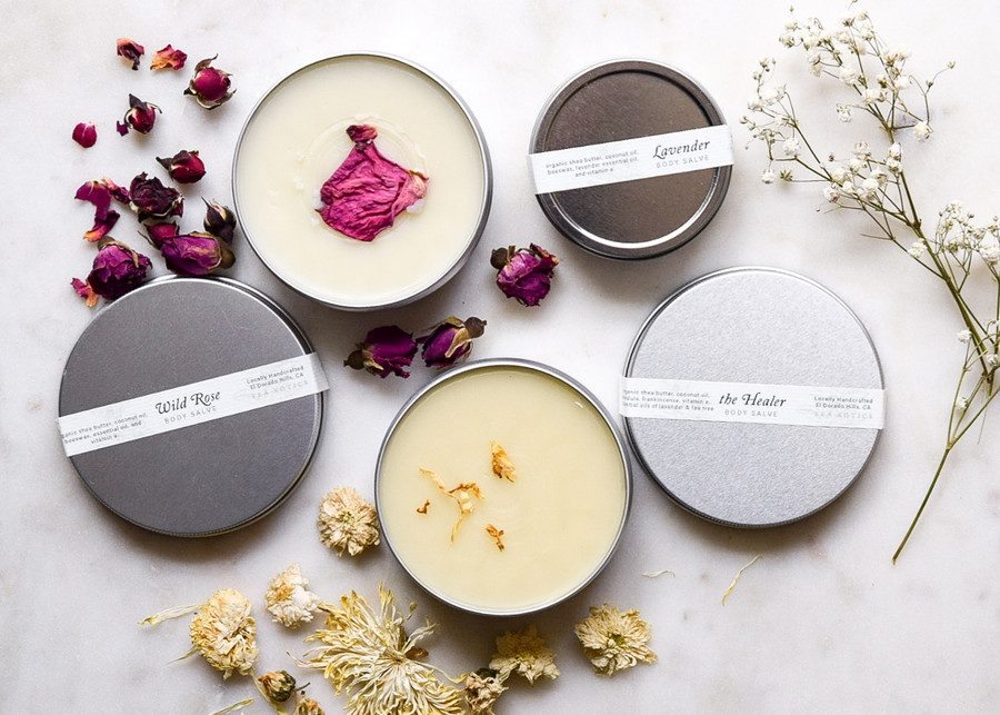 Tea Xotics Hand Salves, Wild Rose, the Healer, Lavender
