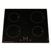 SIA 60cm Black 4 Zone 13amp Plug In Induction Hob & Cooker Hood Visor Extractor