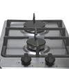 SIA SSG302SS 30cm Stainless Steel Domino Gas Hob With Cast Iron Pan Supports