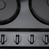 SIA 60cm Single Electric Oven, 4 Zone Solid Plate Hob & Smoked Glass Cooker Hood