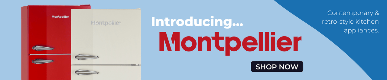 Introducing... Montpellier. Contemporary and retro-style kitchen appliances.