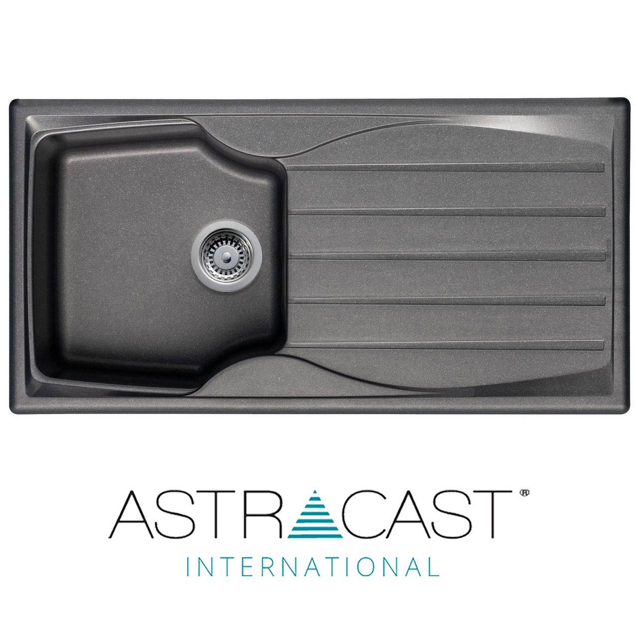 Astracast Sierra 1.5 Bol Crème Kitchen Sink /& Clearwater Creta Chrome mitigeur