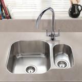 SIA 1.5 Bowl Undermount Stainless Steel Kitchen Sink With Waste Kit W594xD460mm