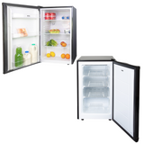 SIA Freestanding Black Undercounter Larder Fridge & Freezer | A+ Energy Rating
