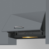 SIA INT60BL 60cm Black Integrated Built In Cooker Hood Kitchen Extractor Fan