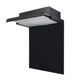 SIA 60cm Black Telescopic Integrated Cooker Hood & Toughened Glass Splashback