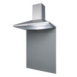 SIA 60cm Stainless Steel Chimney Cooker Hood & Grey Toughened Glass Splashback