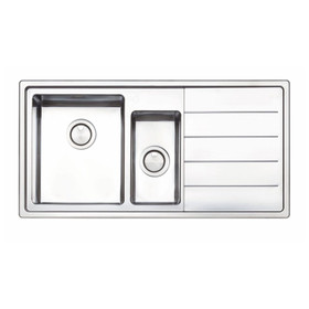 Clearwater LIP150R Linear Plus 1.5 RHD Bowl Brushed Stainless Steel Kitchen Sink