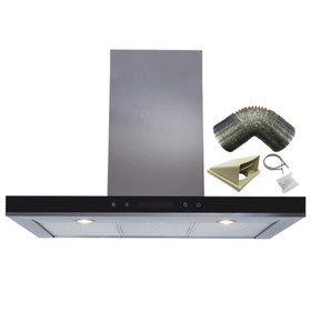 SIA 90cm Stainless Steel Linear Touch Control Cooker Hood Fan & 3m Ducting Kit