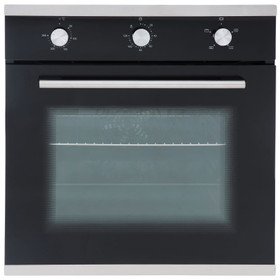 SIA SO101 60cm Black Built In Multi Function Electric Single True Fan Oven