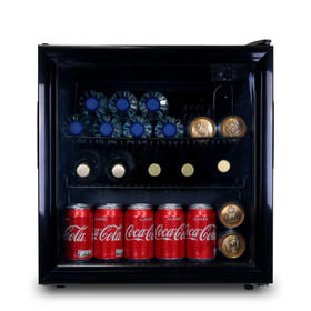 SIA DC2BL 50L Table Top Mini Drinks Beer And Wine Fridge Cooler With Glass Door