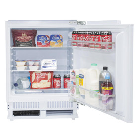SIA RFU101 136L Built In White Integrated Under Counter Fridge With Auto Defrost