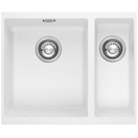 Franke SID 160 1.5 Bowl Polar White Tectonite Undermount Kitchen Sink And Waste