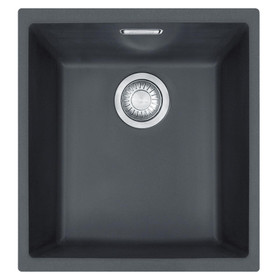 Franke SID 110-34 1.0 Bowl Black Tectonite Undermount Kitchen Sink And Waste Kit
