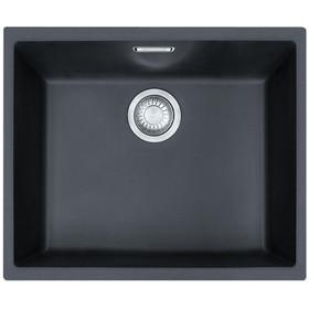Franke SID 110-50 1.0 Bowl Black Tectonite Undermount Kitchen Sink And Waste Kit