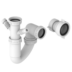 SIA 10PPK Universal Fitting Plumbing Pipe Pack With U-Bend For Single Bowl Sinks