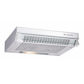 CDA CST61WH 60cm Traditional Slimline Visor Cooker Hood Extractor Fan In White