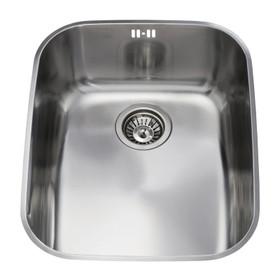CDA KCC24SS 60cm 1.0 Bowl Polished Stainless Steel Undermount Rectangular Sink