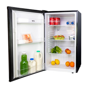 SIA LFS01BL 48cm Black Freestanding 91L Under Counter Larder Fridge, A+ Rated