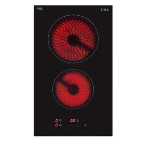 CDA HC3621FR 30cm 2 Burner Domino Ceramic Electric Hob In Black Touch Control
