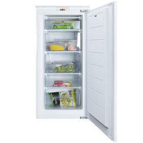 CDA FW582 54cm 135L White Upright 3/4 High Integrated In-column 5 Drawer Freezer