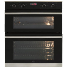 Amica ADC700SS 60cm Black Built Under Double Electric Fan LED Touch Control Oven